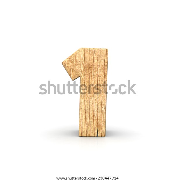 Wood number one front view