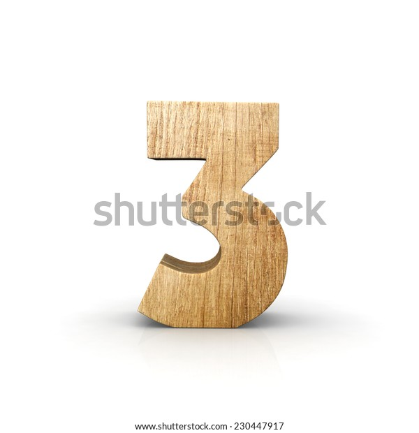 Wood number three front view