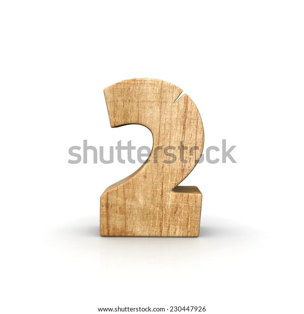 Wood number two front view