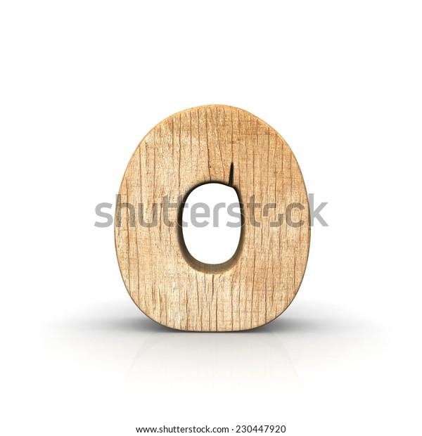Wood number zero front view