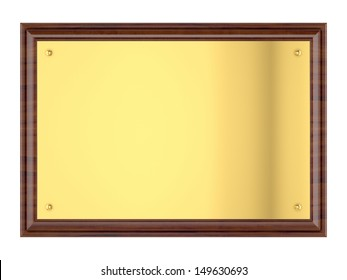 Wood plaque with Gold plate
