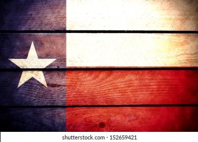 wood Texas Flag
