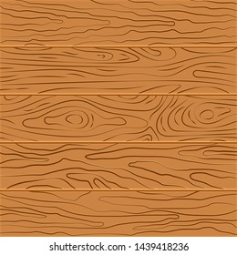 Wood texture background. Five wooden boards in flat design