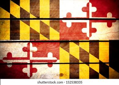 wood texture Maryland flag