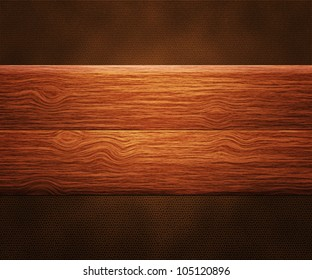 Wooden Boards on Leather