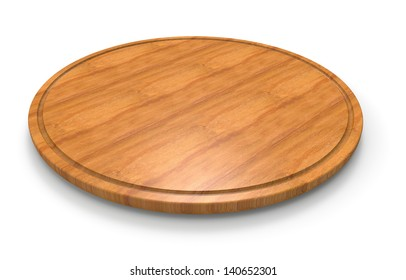 Wooden cutting board for pizza
