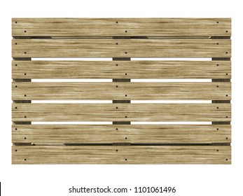 Wooden euro-pane top view. Texture of a wooden pallet. 3d illustration.