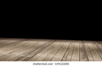 wooden floor background 3d-illustration