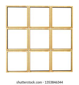 Wooden frame Three-dimensional illustration. 3d render