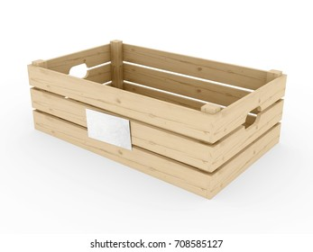 Wooden Fruit Crates, 3D model
