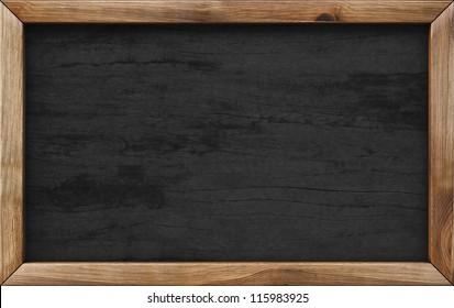 wooden menu board.