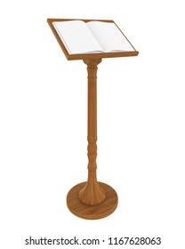 Wooden Music Stand Isolated. 3D rendering