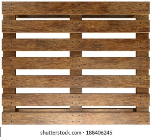 Wooden pallet. Isolated on white background. 3d