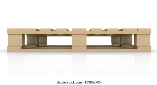 Wooden pallet. Isolated render on a white background