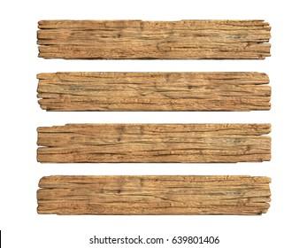 Wooden planks 3d rendering