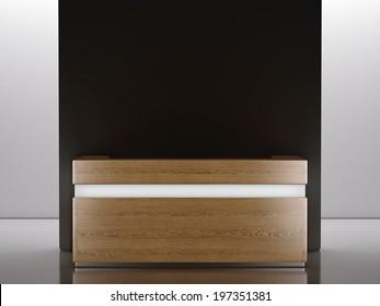 Wooden reception desk