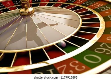 wooden roulette wheel 3d illustration