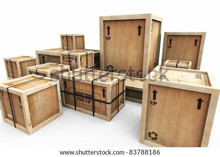 wooden shipping crates - Wooden Shipping Crates