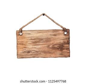 Wooden signboard watercolor