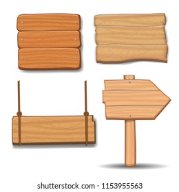 Wooden signboards,  wood arrow sign billboard set.