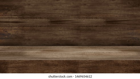wooden texture table product display background.3d perspective studio photography stand.banner mokc up space for showcase product.empty countertop backdrop..buseiness presentation for advertise