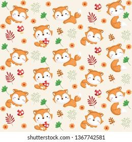 Woodland Background, Fox background, Forest Animals Background