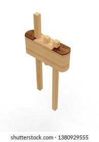 Woodworking Measuring Tool, 3D model
