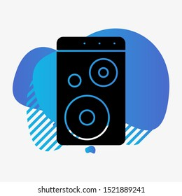 Woofer icon isolated on abstract background