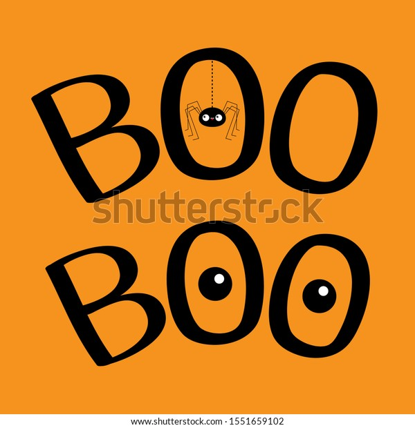 Illustration De Stock De Word Boo Text Hanging Spider Insect