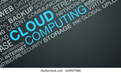 word cloud about cloud computing, copy space