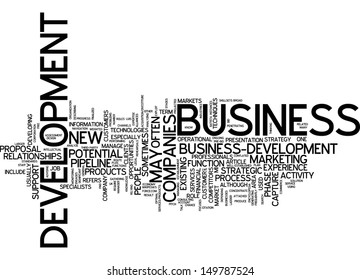Word cloud - business development