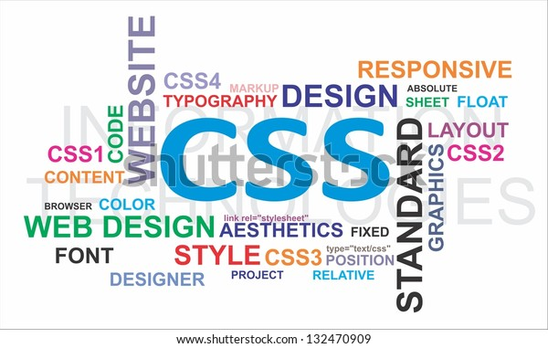 Word Cloud Cascading Style Sheet Related Stock Illustration