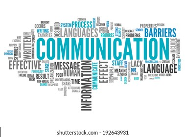 Word Cloud with Communication related tags