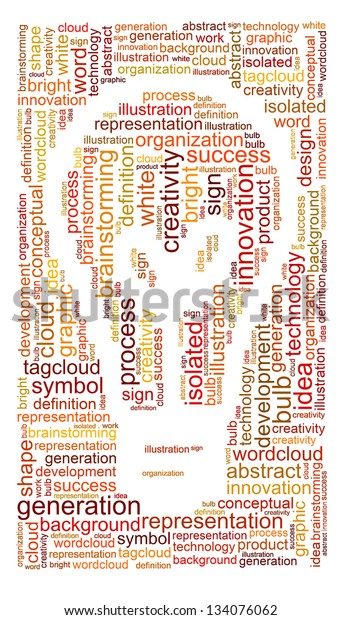 Word Cloud Concept Illustration Brainstorming Shape Stock