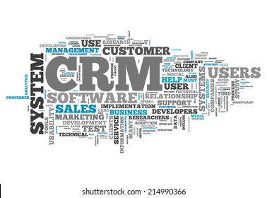 Word Cloud with CRM - Customer Relationship Management related tags