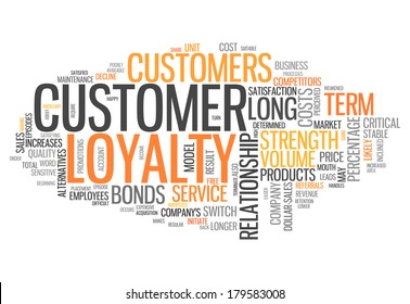 Word Cloud with Customer Loyalty related tags