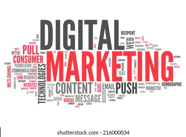 Word Cloud with Digital Marketing related tags