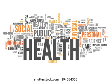 Word Cloud with Health related tags