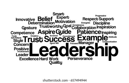 Royalty Free Stock Illustration of Leadership Word Cloud