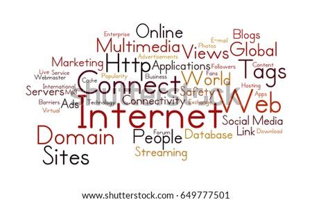 Word Cloud Illustrating Prime Concept Internet Stock Illustration