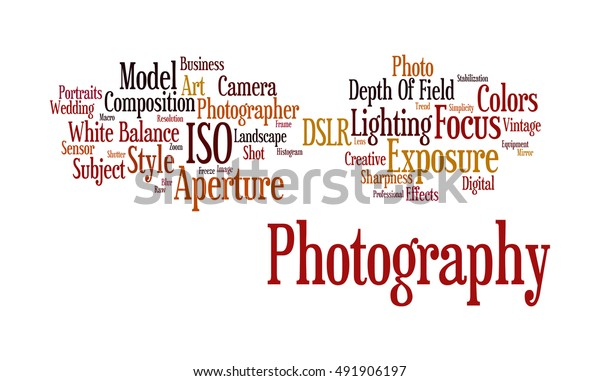 Word Cloud Illustrating Prime Concept Photography Stock Illustration 491906197