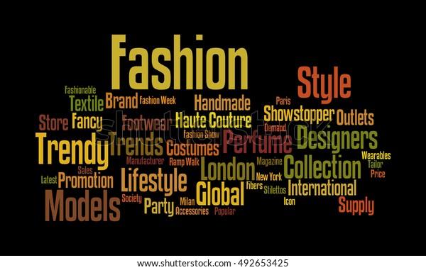 Word Cloud Illustrating Prime Concept Fashion Stock Illustration 492653425