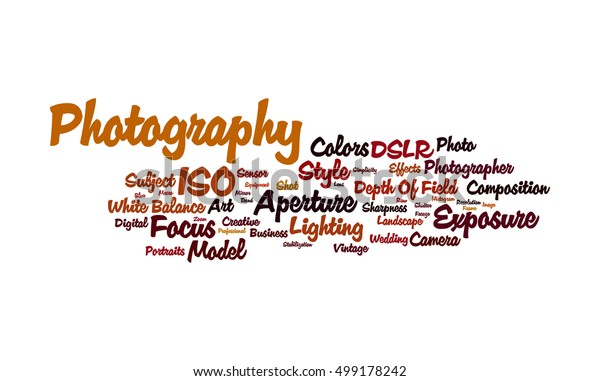 Word Cloud Illustrating Prime Concept Photography Stock Illustration 499178242