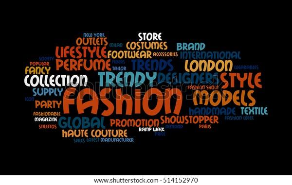 Word Cloud Illustrating Prime Concept Fashion Stock Illustration 514152970