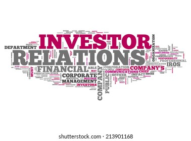 Word Cloud with Investor Relations related tags