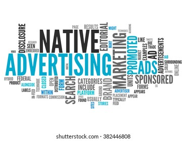 Word Cloud with Native Advertising related tags