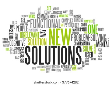 Word Cloud with New Solutions related tags