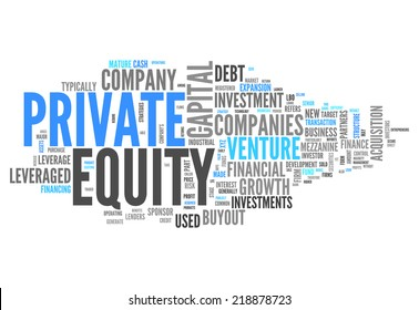 Word Cloud with Private Equity related tags