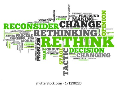 Word Cloud with Rethink related tags