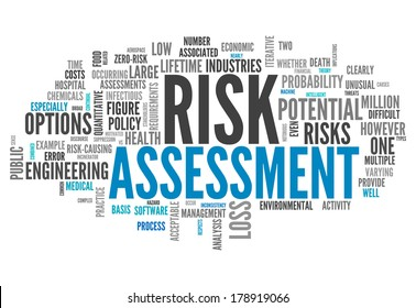 Word Cloud with Risk Assessment related tags